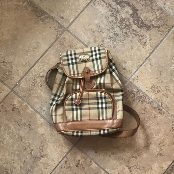 Burberry Handbags - 1day sale Auth Super Vintage Burberry Backpack❣️
